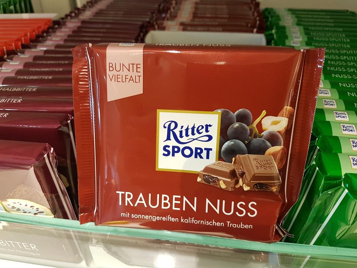 Schokolade mit kalifornischen Rosinen