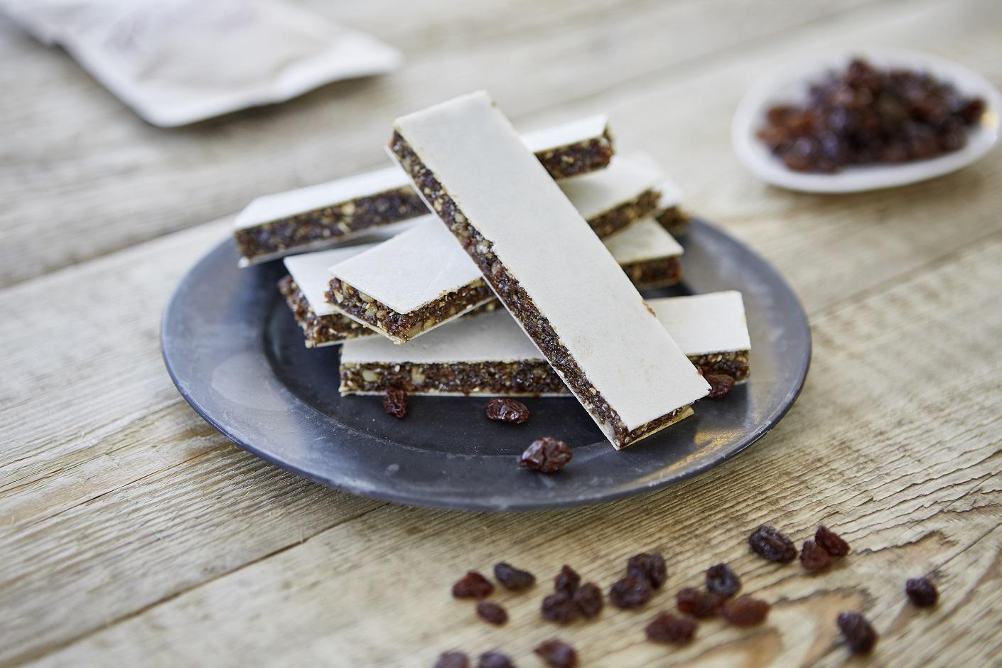 California Raisins fruchtig-lecker-zuckerfrei: Energieriegel mit frischem Ingwer