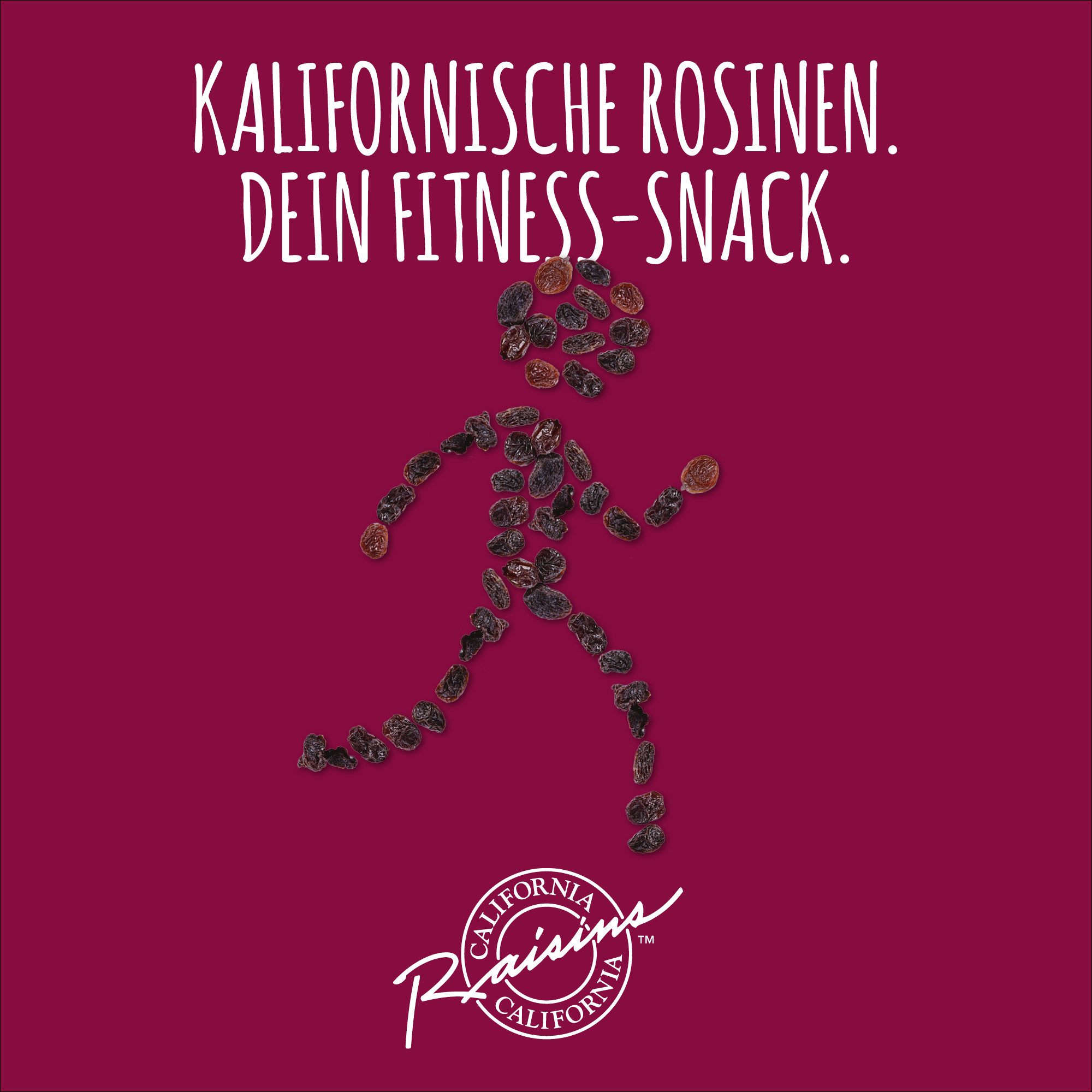 California Raisins warum sind Rosinen der ideale Fitness-Snack