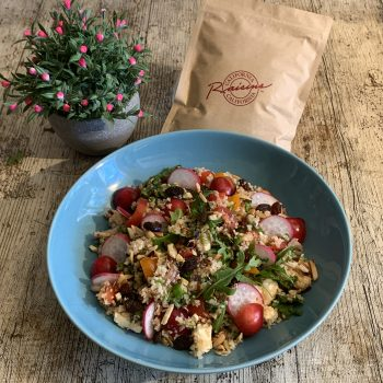 California Raisins Perfekt für den Sommer Bulgur-Salat mit Rosinen